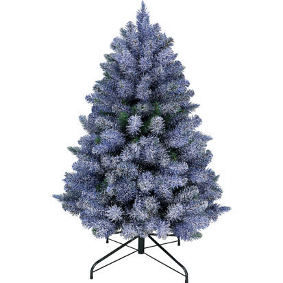 Item 20514 : 4ft Blue Glittered Arctic Spruce