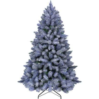 Item 20516 : 6ft Blue Glittered Arctic Spruce